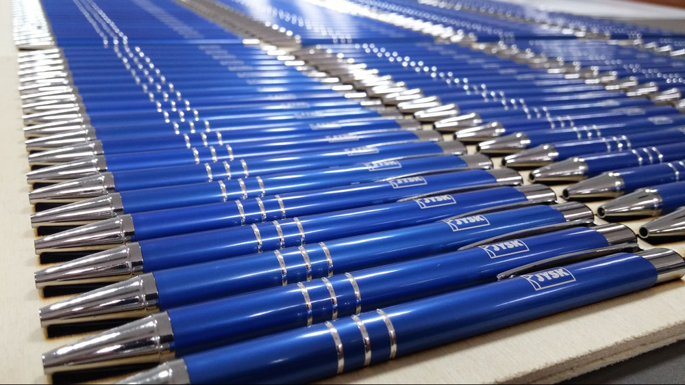 Długopisy metalowe z grawerem