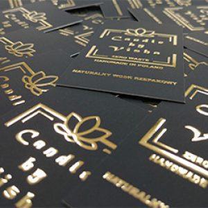 wizytówki złocone UV 3D