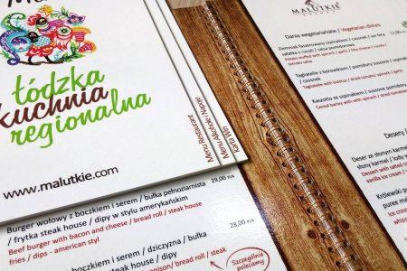 Karty menu dla restauracji